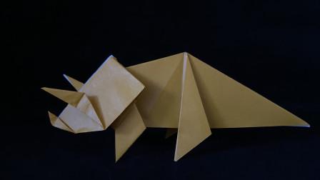 折纸教程:一起来折一只三角龙