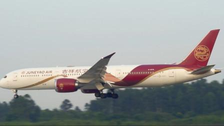 川航空客A350和吉祥航空波音787相继降落,哪架更喜欢呢?