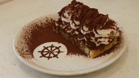 韩国甜品之提拉米苏简易版,看着都饿!