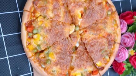大厨教你做披萨,做过讲解详细,香软好吃又拉丝,每一块都能拉丝