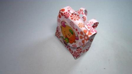 手工折纸书包,简单易学还超漂亮