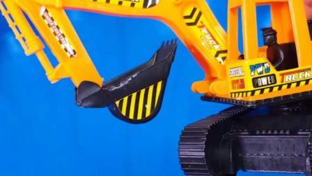 儿童玩具启蒙认知:压路机、叉车、推土机、轮船、挖掘机!