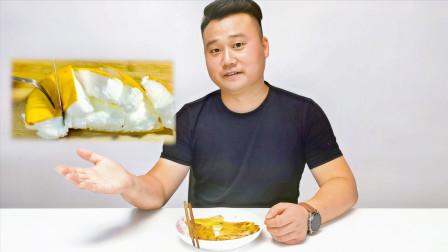 打发的鸡蛋真的能煎成面包状吗?小伙做了两天最后成了鸡蛋饼
