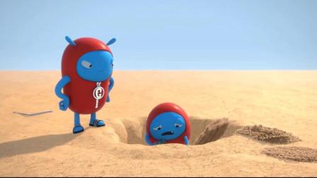 沙漠太可怕,好不容易挖到的水就蒸发