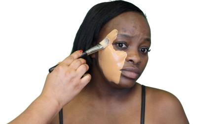 黑人妹子挑战最强化妆术,妆后惊艳了众人,网友:亲妈都认不出来