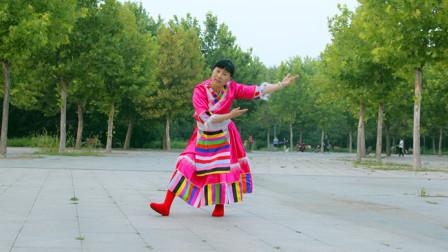 藏族广场舞《吉祥欢歌》,梦娟广场舞民族舞