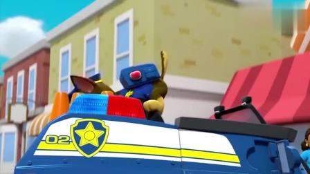 搞笑的汪汪队:浴缸都能飞上天了,毛毛用消防梯去救猫猫,可结果不理想