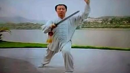 54式传统杨式太极剑背面口令版(李军演示)