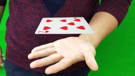 神奇魔术:扑克牌在手掌上悬浮,效果非常好的!