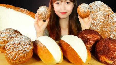 奶油曲奇泡芙、卡仕达奶油热狗面包、提拉米苏奶油面包,我的最爱之一!