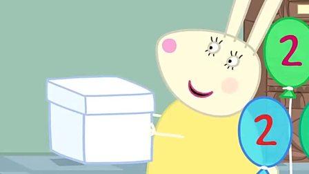 小猪佩奇:兔妈妈给乔治做了很特别的蛋糕,是恐龙形状的呢