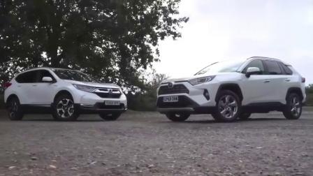 新款本田CRV和丰田RAV4差距有多少停一块比一下就知道了