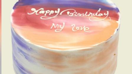 现在流行Ins风复古手绘蛋糕,简约而不简单,时尚美味好吃看得见