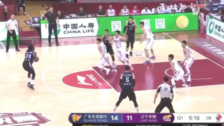 CBA篮球比赛:郭艾伦个人出色的得分,可惜最后辽宁还是输给广东!