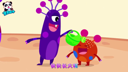 宝宝巴士:黑黑的霉菌最喜欢过期的土司,糟糕 吐司上的霉菌怪物变大了