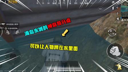 和平精英揭秘:海岛水城的神奇苟分点,可以让人物蹲在水里面