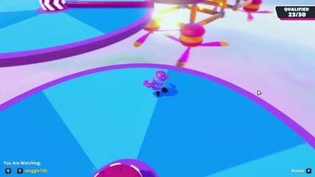 糖果人:被赛道障碍打到的小粉红重心有点