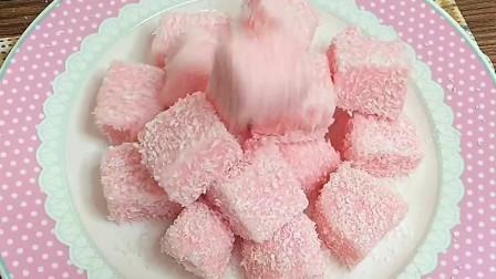 椰蓉奶冻,这么好看的甜品,一定要做给你喜欢的人吃