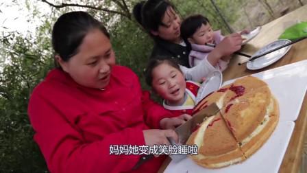 陈说美食:200元榴莲配5种果酱,给孩子做千层蛋糕,7岁女儿大口吃的真过瘾!