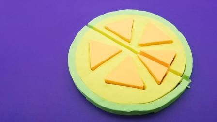 早教儿童动画:DIY一个芒果香蕉披萨,教宝宝认颜色做手工