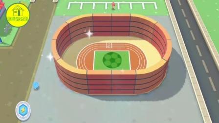 宝宝巴士游戏:为跑道盖上围墙,再涂上好看的颜色