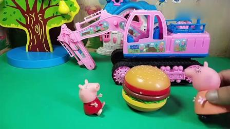 趣味玩具;小鬼僵尸要拿走佩奇的汉堡包!