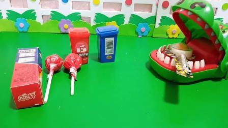 小猪佩奇玩具:大鳄鱼吃了太多糖,牙齿都掉了