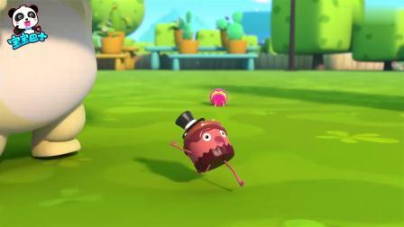 宝宝巴士:小小杯子蛋糕,从高高的桌子上,掉在了草地上