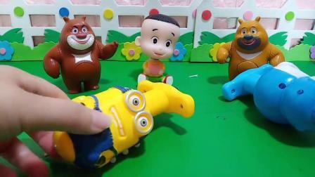 小猪佩奇玩具:大家的陀螺太好玩了哦
