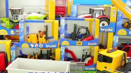 工程车玩具表演:吊车起吊围栏装载翻斗车运输!