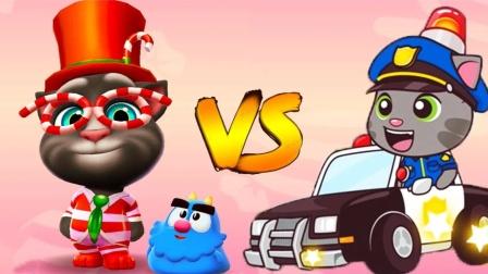 会说话的汤姆猫2游戏 糖果汤姆猫vs警官汤姆猫