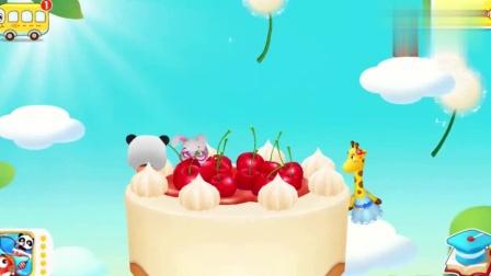 宝宝巴士:欢迎来到妙妙的蛋糕店,妙妙准备做一个草莓蛋糕哦