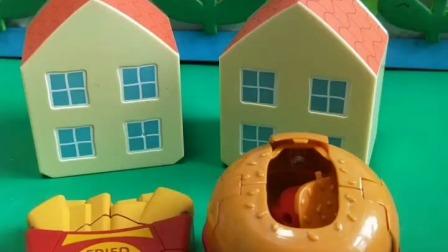 小猪佩奇玩具:谁想看小汉堡变身?