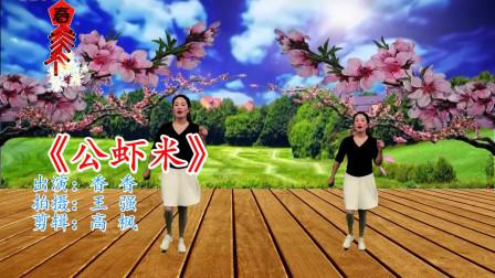 网络神曲广场舞《公虾米》歌曲有趣好听,舞步简单大方!