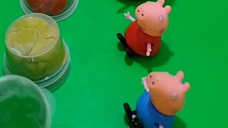 给猪爸爸猪妈妈乔治小猪佩奇做汉堡,看起来满满的食欲,吃起来肯定超美味