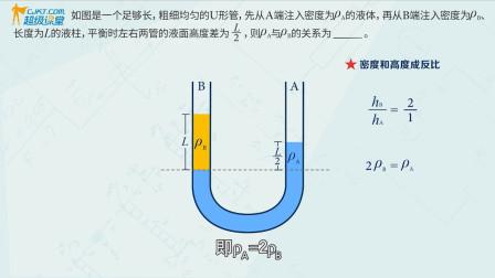 探究U形管中不同液柱的高度问题