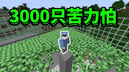 MC:正能量主播正面对抗3000只苦力怕?只需一件物品就能赢!!