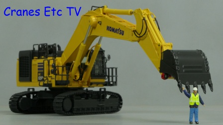 Komatsu PC1250 with Lehnhoff Coupler by Cranes Etc TV