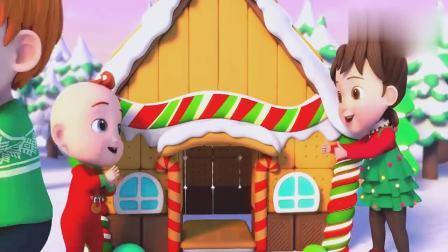 超级宝贝:jojo很厉害呀,姜饼屋快要完成,看起来真漂亮呀