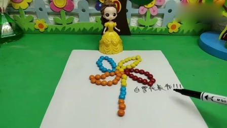小猪佩奇玩具:贝儿把白雪的名字改成了贝儿代表作!