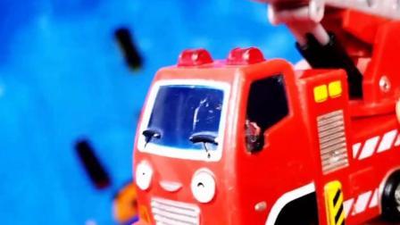 儿童玩具早教认知:拖拉机、搅拌车、消防车、挖掘机!
