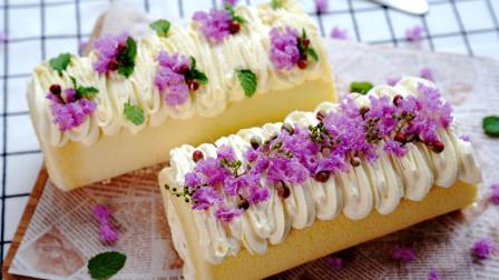 漂亮梦幻的七夕蛋糕卷
