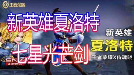 王者荣耀:新英雄夏洛特 七星光芒剑
