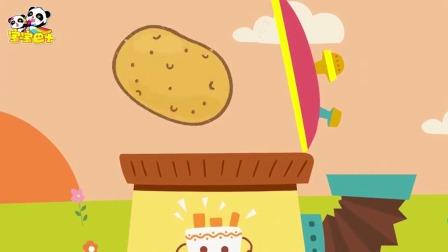《宝宝巴士神奇简笔画》土豆 拿个土豆放机器里就飞出很多薯条!