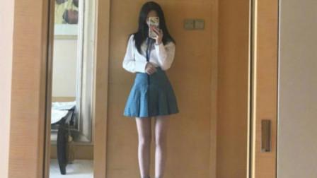 """160的鞠婧祎挑战""""JK短裙"""",白皙肌肤漫画腿,其他女生黯淡失色!"""