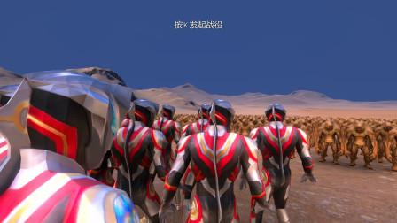 史诗战争模拟器:10个终极形态捷德奥特曼VS500个怪兽