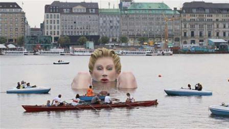 湖中惊现巨人美女泡澡!数百人围观后突然消失,这是什么情况?