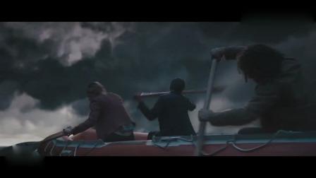 人类战船被妖怪吞入腹中,用火炮打穿妖怪肠子,逃了出来