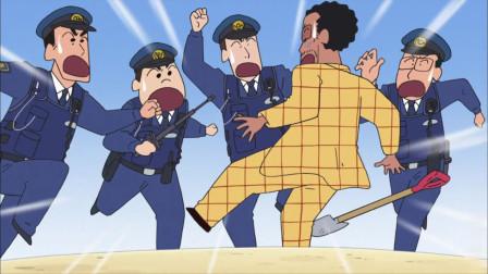 蜡笔小新:小新等人在幼稚园玩气球,害的园长被警察抓走尴尬