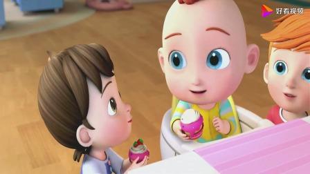 超级宝贝:吃蛋糕的时候,这个杯子蛋糕,真的是美味啊!